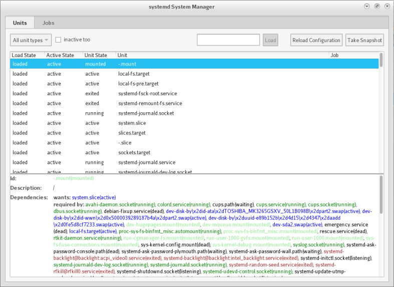 Monitoring service linux di systemd